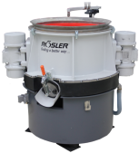R 150/2 DL vibratory system with two external motors mounted on processing bowl